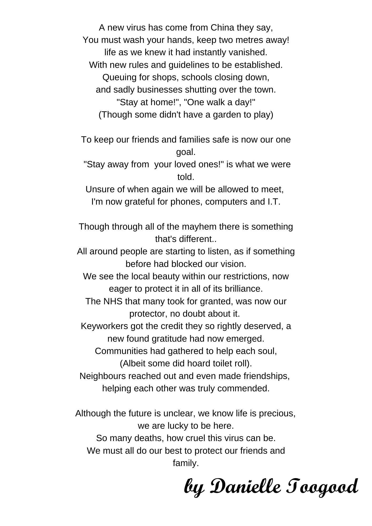 Image of poem as written in description