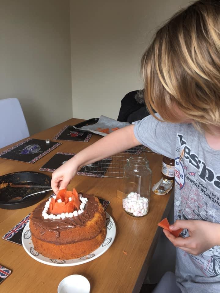 Photo of young person baking